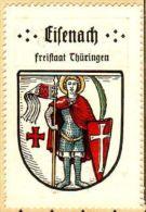 Werbemarke (Reklamemarke, Siegelmarke) Kaffee Hag : Wappen Von Eisenach - Tea & Coffee Manufacturers