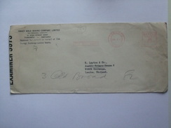 CANADA 1941 COVER WITH TORONTO METER MARK CENSOR STICKER SHAKEY GOLD MINING COMPANY TO LONDON - Storia Postale