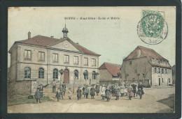 90 ROPPE  ( TERRITOIRE DE BELFORT)..ANIMEE...ECOLE ET MAIRIE. ....C2057 - France