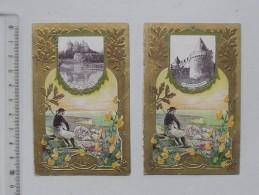 CHROMO LU LEFEVRE UTILE: Château De PONTIVY Et De COMBOURG - Lot De 2 Même Série - Publicité - Lu