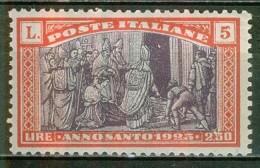 1925 - Année Sainte - ITALIE - Le Pape Fermant La Porte Sainte - N° 168 * - 1900-44 Vittorio Emanuele III
