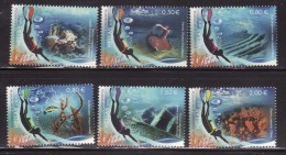 GREECE 2015 Hellas#--- 09th Issue, Diving Tourism, Complete Set, MNH LUX - Grèce