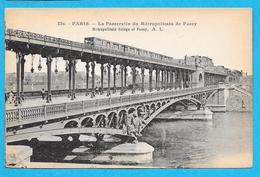 75-PARIS-la Passerelle Du Metropolitain De Pacy -cpa Non écrite - Métro Parisien, Gares