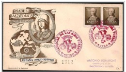 Spagna/Spain/Espagne: FDC, Raccomandata, Registered, Recommandé, Isabella La Cattolica, Isabelle La Catholique - Femmes Célèbres