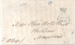 CALCUTTA INDIA 1852 A MAURITIUS SHIP LETTER A PIPON BELLOCQ OU BELLOC  FULL CONTENT INSIDE SPECTACULAR - ...-1852 Prephilately