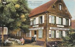 """LICHTENBERG. HOTEL RESTAURANT """" AU BOEUF NOIR """" - Andere Gemeenten"""