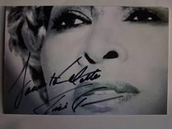 TINA TURNER -  Dédicace - Hand Signed - Autographe Authentique - Chanteurs & Musiciens