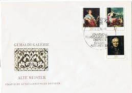 ART-L119 - ALLEMAGNE ORIENTALE FDC Tableaux Du Musée De Dresden