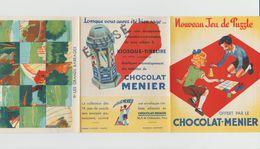 """DÉPLIANT NOUVEAU JEU DE PUZZLE """"CHOCOLAT-MENIER"""" N° 11 LES GRANDS BARRAGES - Menier"""