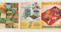 """DÉPLIANT NOUVEAU JEU DE PUZZLE """"CHOCOLAT-MENIER"""" N° 1 CENDRILLON - Menier"""