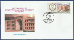 PAKISTAN 2010 FDC FIRST DAY COVER INTERNATIONAL ISLAMIC UNIVERSITY ISLAMABAD BUILDING ARCHITECTURE EDUCATION