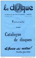 Le Disque Paris-Catalogue De Disques La Voix Des Nôtres Fondateur Jean Lorris-Orateurs De La Démocratie-L´internationale - Advertising