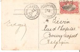 N°55 LEOPOLDVILLE 10/10/1911 S/CP. Vers BOURG-LEOPOLD - AMBt. BRUSSEL(BRUXELLES)-HERBESTAL. TB.