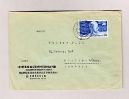 D - BRD 8.6.1950 KREFELD Brief Nach Windisch AG Mit Mi#116 - [7] República Federal