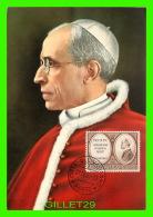 PAPES - S. S. PIO XII - TIMBRE POSTE VATICANE L. 10 1957 - - Papes