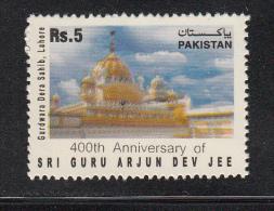 PAKISTAN,  2006, 400th Anniversary Of Guru Arjun Dev Jee, Lahore Gurudwara, Gurdwara,, Sikh Religion, 1 V,  MNH, (**) - Pakistan