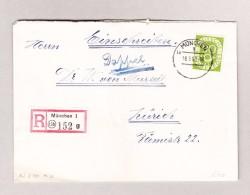 D - BRD MÜNCHEN 18.3.1953 R-Breif Nach Zürich Mit 90Pf Posthorn - BRD