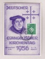 D - BRD Maximum Karte Deutscher Evang. Kirchentag 8.8.1956 Frankfurt - Lettres & Documents