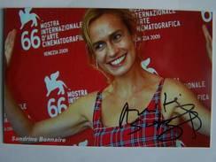 Artiste - Sandrine BONNAIRE  - Signé / Hand Signed / Dédicace Authentique / Autographe - Entertainers