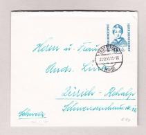 D - BRD TROSSINGEN 22.12.1955 Brief Nach Zürich Mit Mi.#225 - Lettres & Documents