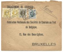 L Exprès Affr N°205 X2 +255+279 Rectangulaire BRUXELLES NORD/T 1930 T Pour Bruxelles - 1922-1927 Houyoux