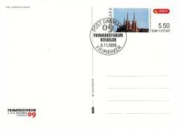DANMARK POST CARD FRIMAERKEFORUM ROSKILDE 6.11.2009 / 6982 - Non Classés