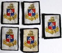 5 Insigne Tissu 9 DIMA Infanterie De Marine - Patches