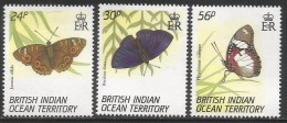 1994 British Indian Ocean Territory Butterflies  Complete Set Of 4  MNH - British Indian Ocean Territory (BIOT)