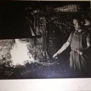 LA FORGE   PHOTO ORIGINALE  SIGNÉE   PAPIER GRANITÉ     27X24 - Métiers