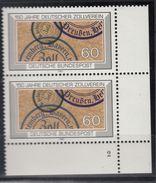 Bund 1195, Formnummer, Zollverein, SP - BRD