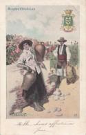 Espagne - Islas Canarias - Illustration Femme - Mujeres Espanolas - Blason - Porteuse D'Eau - Precurseur - RARE - Espagne