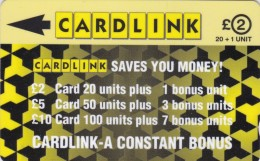 Cardlink, CLK001, Jigsaw Design, 2 Scans.   2CLKA - Ver. Königreich