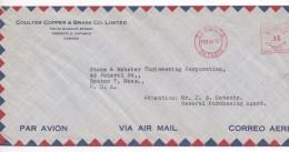 3089   Carta  Aerea Toronto Ontario 1957