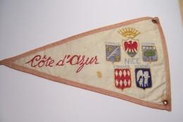 COTE  D´AZUR  --- FANION  -- CANNES- NICE - MONACO -MENTON -ST RAPHAEL - Obj. 'Remember Of'