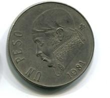 1981 Mexico  1 Peso Coin - Mexico