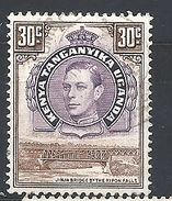 KENYA, UGANDA TANGANYIKA      1938 Issues Of 1935 But With Portrait Of King George VI  USED - Kenya, Uganda & Tanganyika