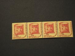 STATI UNITI - 1976 TAMBURO  7,9 C., Strscia Di 4 (strip Of Four ) - NUOVI(++) - Coils & Coil Singles