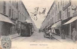 54 - MEURTHE ET MOSELLE - Gares Et Chemin De Fer / Lunéville - Rue Banaudon - Beau Plan Tramway - Luneville