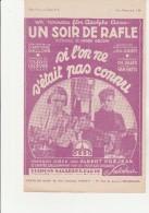 PARTITION - SI L'ON NE S'ETAIT PAS CONNU -CHANSON DU FILM UN SOIR DE RAFLE-CREE PART ALBERT  PREJEAN - Scores & Partitions
