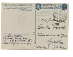 1481) Franchigia 1942 Posta Militare 93 2^ Guerra Mondiale - Franquicia