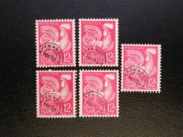 Lot De 5 Timbres 111  COQ     Sans Gomme - 1953-1960