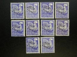 Lot De 10 Timbres 119   COQ     Sans Gomme - 1953-1960