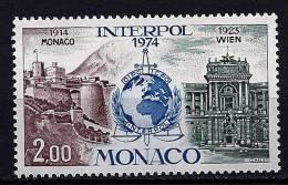 "Monaco YT 966 "" Anniversaire D´Interpol "" 1974 Neuf** - Mónaco"