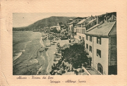 ALASSIO - SPIAGGIA - ALBERGO SAVOIA - B/N -   XR04707 - Savona