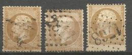 France - F1/058 - Type Napoleon III - N°21 Obl. PERONNE Et HAUTMONT - Curiosité Format Normal / Court / Allongé - 1862 Napoleon III