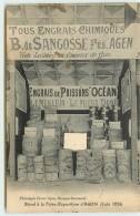 DEP 47 AGEN FOIRE EXPOSITION 1924 STAND DES ENGRAIS CHIMIQUE SANGOSSE - Agen