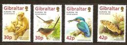 Cept 1999 Gibraltar Yvertn° 853-56 *** MNH Faune Oiseaux Cote 8 Euro - Gibraltar