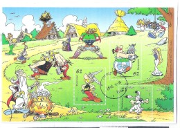 Used Sheet On Paper Cartoons Asterix Obelix 2015 Deutschland Allemagne Germany - Gebraucht