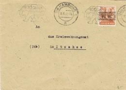 20078. Carta HAMBURG (Alemania Zona Cupation Anglo Americain) 1948. Elephant, Elefante - Zona Anglo-Américan