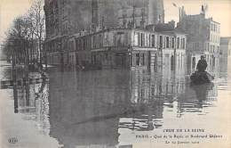 PARIS - INONDATIONS 1910 - Crue De La Seine : Quai De La Rapée Et Boulevard Diderot - CPA - Inondations De 1910